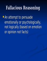 Pp 4b Fallacies Chapter Ppt