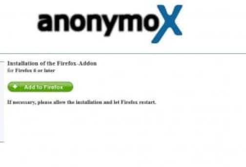 فتح المواقع المحجوبة anonymoX فايرفوكس