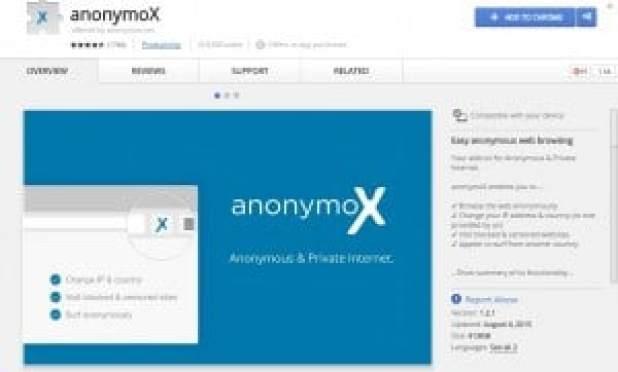 فتح المواقع المحجوبة anonymoX