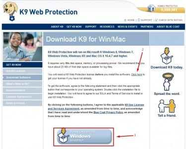K9 Web Protection برنامج لحجب المواقع الغير مرغوب فيها للكمبيوتر