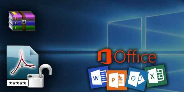 كسر كلمات مرور الملفات المضغوطة RAR او ملفات Word أو PDF أو excel