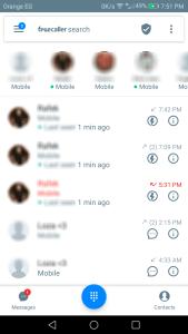 هويه المتصلين مع تطبيق من المتصل