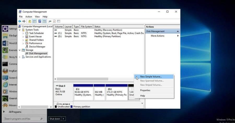 تقسيم الهارد ديسك بدون فورمات في ويندوز 10 و 7 و 8 وبدون برامج