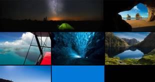 خلفيات ويندوز 10 الرسمية المعروفة باسم Hero desktop wallpaper