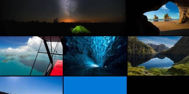 تحميل خلفيات ويندوز 10 الرسمية المعروفة باسم Hero desktop wallpaper