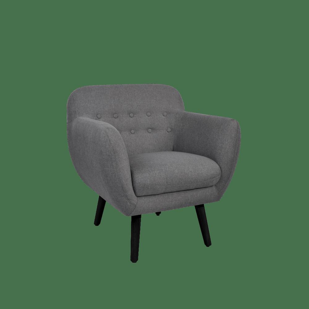 fauteuil club 71x62x78cm gris super u