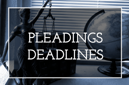 Federal Court Pleadings Deadlines