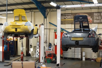 VX220s undergoing modification work