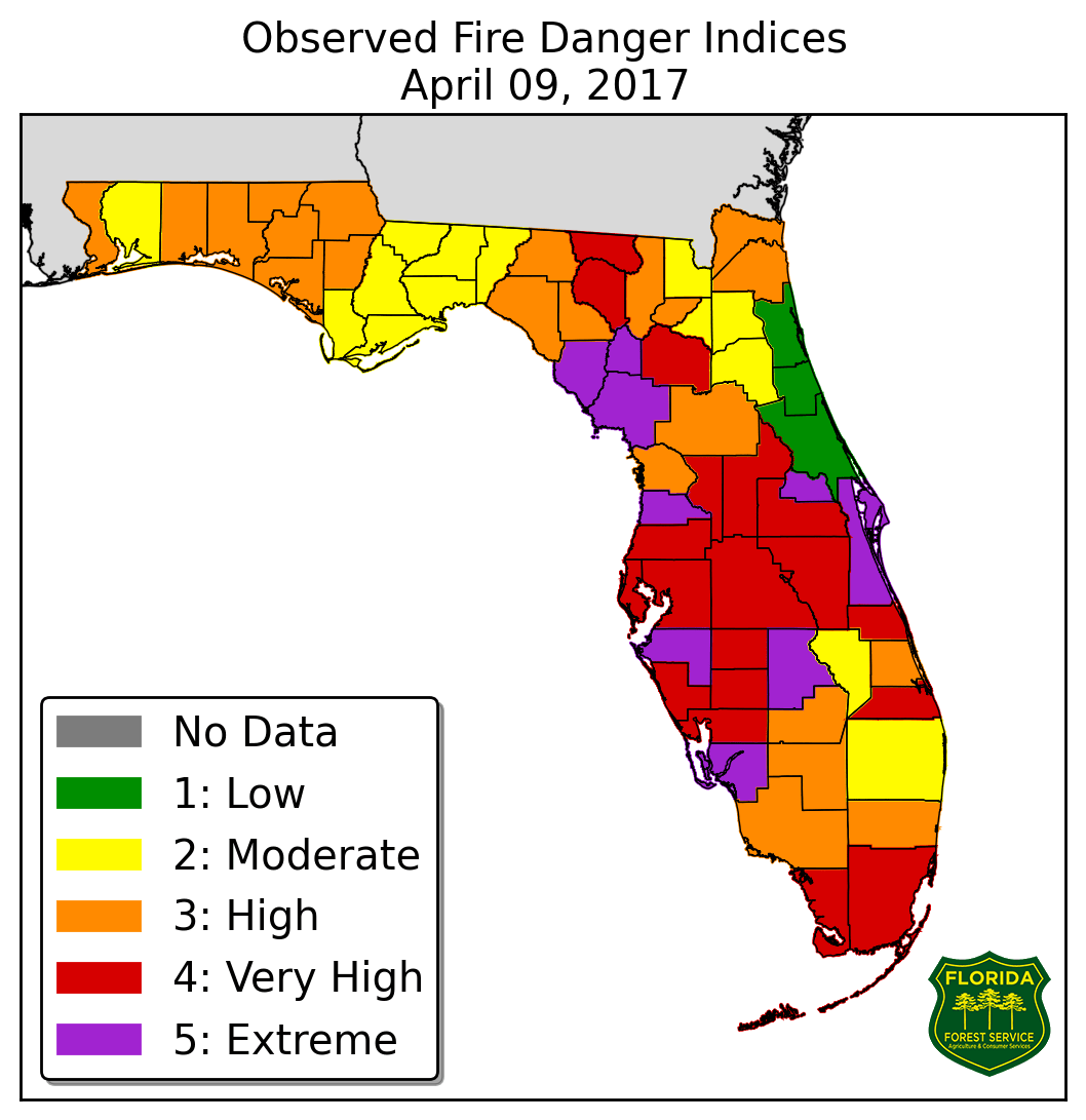 Florida Governor Declares State Of Emergency Due To Wildfires - Florida map of fires