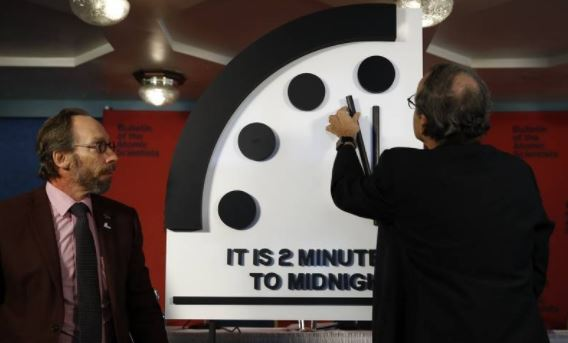 Scientists to reveal time of Doomsday Clock this morning