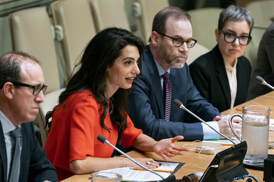 Amal Clooney Makes UN Plea for Reporters Jailed in Myanmar