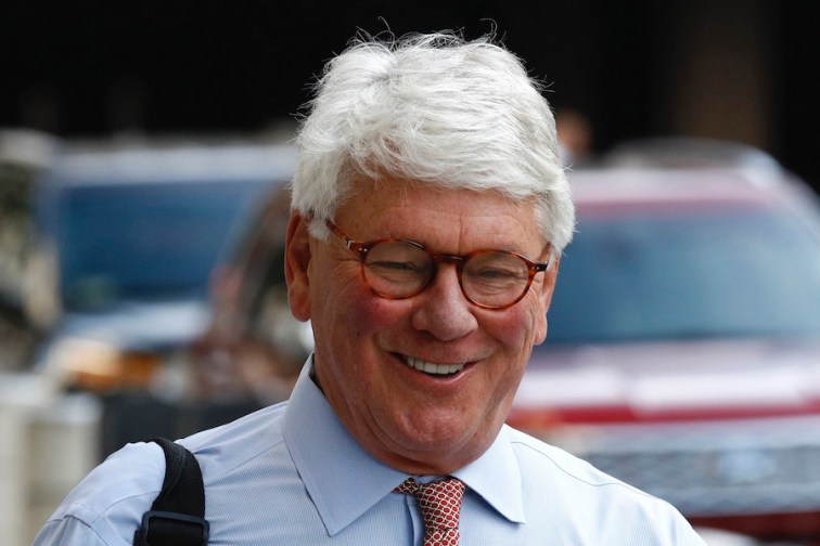 Greg Craig, former White House counsel to former President Barack Obama, walks into a federal courthouse for his trial on Aug. 22, 2019, in Washington. (AP Photo/Patrick Semansky)
