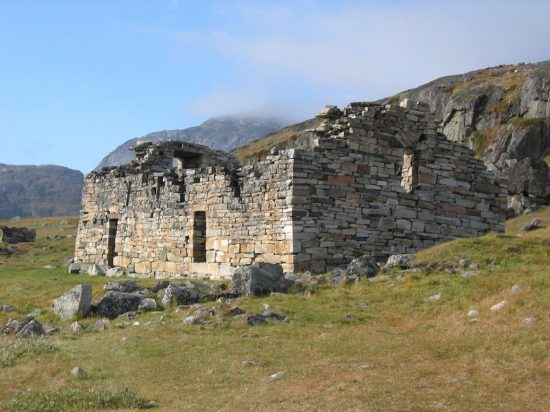 Church ruins from Norse Greenland's Eastern Settlement. (Credit: James H. Barrett via CNS)