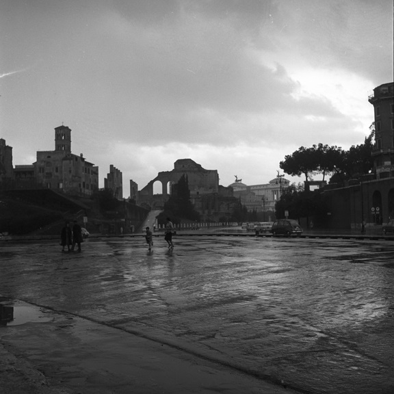 Rome in rain, from Walt Girdner's Italy collection
