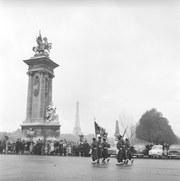 Armistice Day parade in Paris, 1959. From the Paris collection.