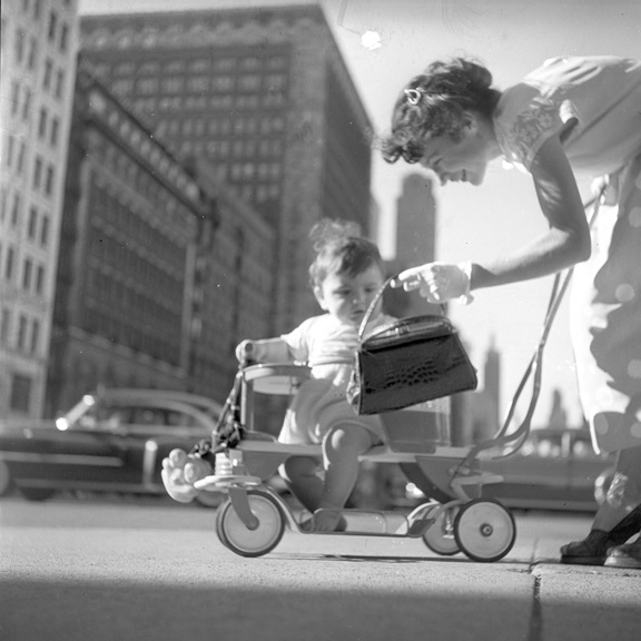 Back in America, circa 1952, possibly Chicago.