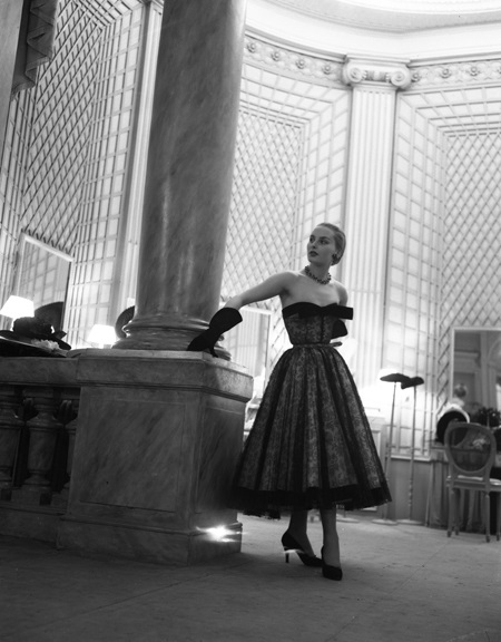 Haute couture takes center stage in this photograph from Walt Girdner' Paris collection.