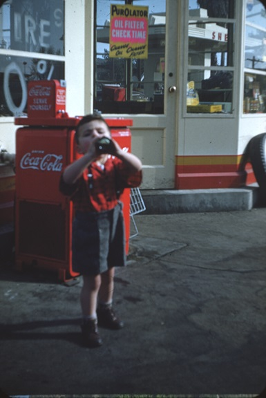 Coke at the service station. From Walt Girdner's America collection.