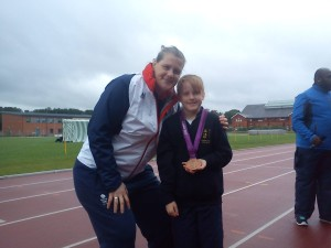 With Karina Bryant, London 2012 bronze medallist, at 2013 Hampshire & IoW Games