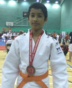 Azhar - Bronze medal winner  at Kent International 2015