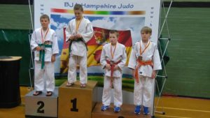 Jack Rogerson on medal podium