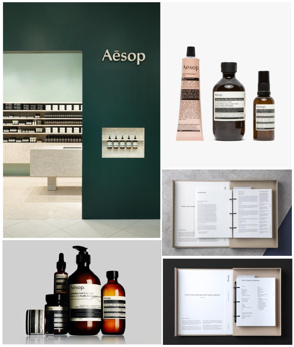 Aesop branding packagind design