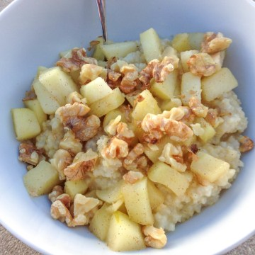 Apple Walnut Millet Oatmeal