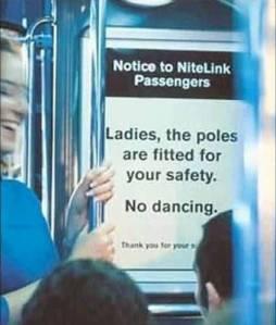 pole dancer sign