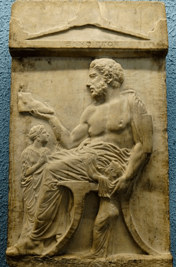 Greek Relief with Klismos chair