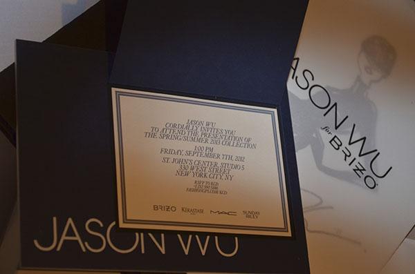 Fashion week invitation