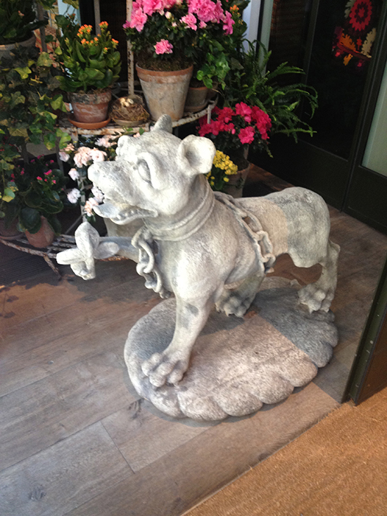 Crosby Street Hotel , dog statue