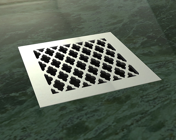 Watermark Drains, shower drains on www.CourtneyPrice.com