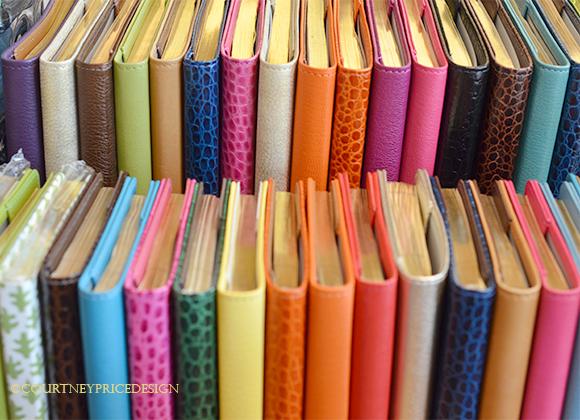 desk accessories, crocodile journals, crocodile, leather journal, address books, colorful journals