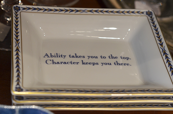 motivational quote, decorative dishes, soap dish, ash tray