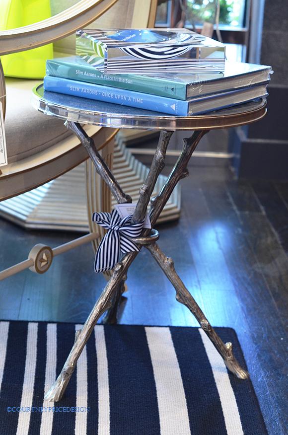 Coffee Table Books, twig table, acrylic dish