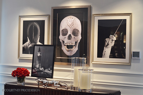 Ralph Lauren- Damien Hirst skull, black and white photos, as seen on CourtneyPrice.com