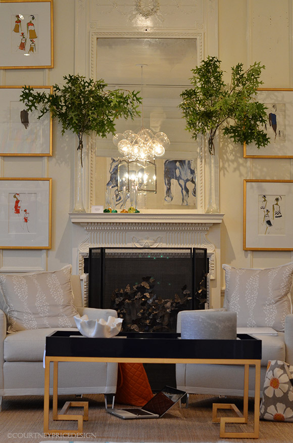 Blue Print , contemporary interior ,as seen on www.CourtneyPrice.com