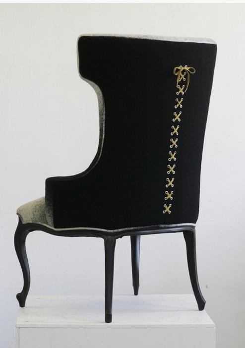 corset chair, sexy chair, modern wingback chair,