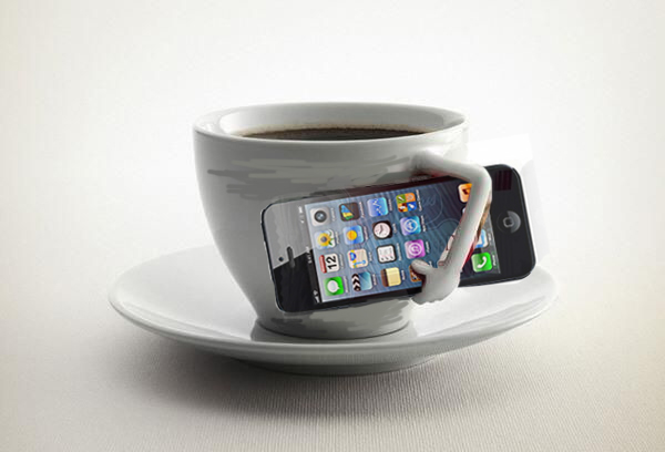 iphone coffee, social media