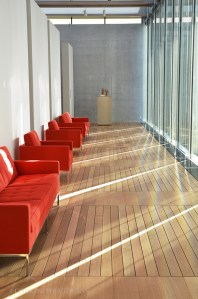 Red Sofas, Renzo Piano Pavilion, Kimbell Art Museum, Fort Worth, Texas Art, Art Museum, New building,