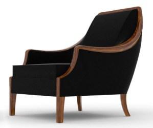 library chair, Randolph Hein, Navy chair, comfortable chair