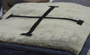 Madeline Winerib Rug, silk and wool rug