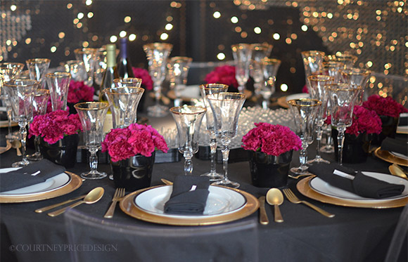 New Years Eve, Table Setting, New Years Eve Party, dinner party