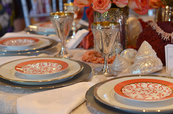 Coral Table Theme on www.CourtneyPrice.com