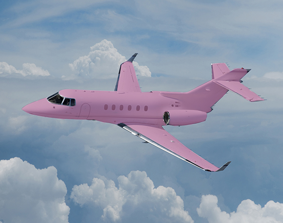Radiant Orchid Private-Jet, pink jet  on www.CourtneyPrice.com