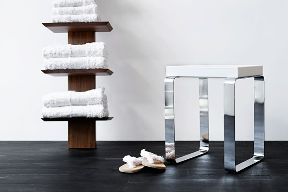 Bath bench, for bathroom or shower: WETSTYLE Cube - on www.CourtneyPrice.com