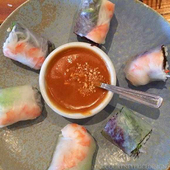 Spring rolls (with recipe) from The Slanted Door, San Francisco travel tip on www.CourtneyPrice.com