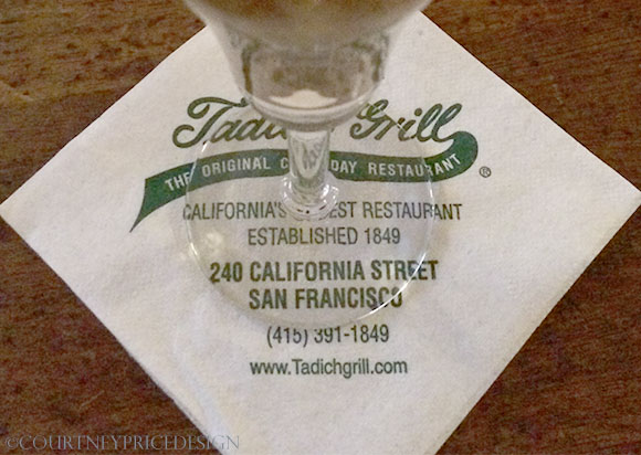 Tadich Grill, oldest restaurant in San Francisco, on www.CourtneyPrice.com
