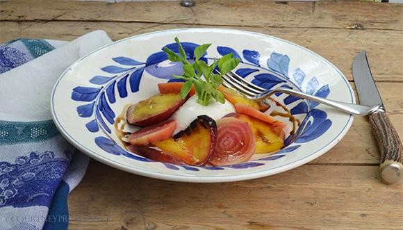 GrilledPeach-Salad on www.CourtneyPrice.com