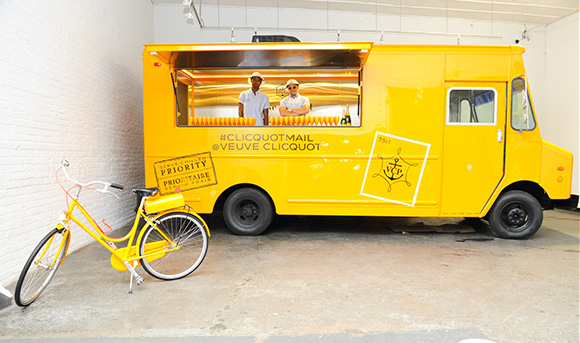 Veuve Mail Truck, #CliquotMail, on www.CourtneyPrice.com